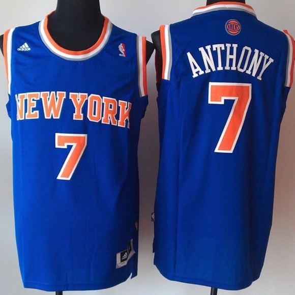 reputable site 9dab5 1609e NEW YORK Carmelo Anthony #7 Basketball Jersey
